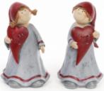 Фигурка декоративная «Девочка с сердцем» 19см