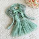 Платье детское зеленое 7199