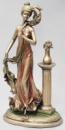Статуэтка декоративная «Девушка с пером» 44.5см с бронзовым напылением