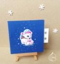 Новогодняя открытка ручной работы медвеженок