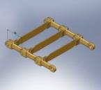 Цепь тяговая двухрядная для скребковых конвейеров.