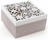 Коробка-шкатулка «Home» для чая и сахара 4-х секционная 18x18x9.5см