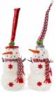 Новогодняя мягкая игрушка «Снеговик в шапке» 18х18х46см
