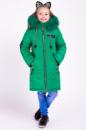 Зимняя куртка для девочки «Мода» зеленый