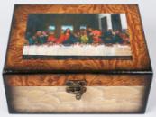 Набор из двух деревянных шкатулок «Живопись Тайная вечеря», 20x16,5x9см и 18x14,5x7см