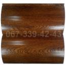 Купить металлосайдинг 067-339-42-43 под бревно, блок-хаус Светлый Дуб (шир. 0,35 м)