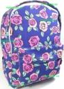 Рюкзак женский городской молодёжный синий с розочками. Хит!