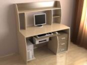 Компьютерные столы с надстройкой.