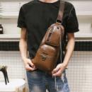 Сумка рюкзак через плечо мужская JEEP 777 Темно коричневая