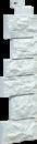 Фасадная панель Угол Fineber Дикий камень Цвет Жемчуг