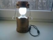 Кемпинговый складной фонарь с солнечной панелью G-85 Bronze