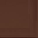 Ступеньки клинкерные угловые с насечками и фаской 300х300 мм CERRAD коллекция «Коричневая»