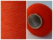 Пряжа CAMELOT MELANGE , оранжевый на белой основе (58% суперкидмохер 38% Fibra Poliammidica, 1500м/100г)