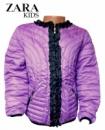 Куртка детская для девочек сиреневая, бренд «Zara»