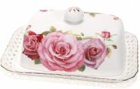 Масленка «Букет роз»-172 17x12x6.5см, фарфоровая