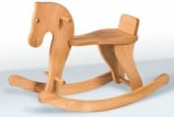 Деревянная лошадка качалка