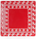 Набор 3 керамические тарелки Red Ceramics «Новогодние» 26х26х3см