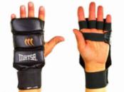 Накладки для карате кожаные Matsa 1804-BK черный