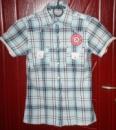 Рубашка на заклёпках. Бренд: Clockhous. Размер 34. Ткань: 100% хлопок. ЦЕНА: 90 грн.