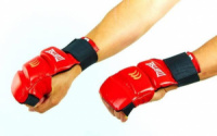 Накладки для карате кожаные Matsa 1804-R красные