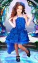 Прокат платья «Рыбка» синее на 5-6 лет