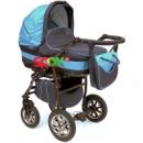 Универсальная коляска 2 в 1  Anmar Eliss New 06E Голубой