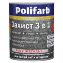 Эмаль с молотк.эффект. Антрацит,2,2кг Polifarb