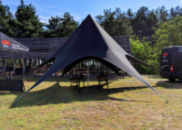 Черная палатка в аренду на 20-30 человек