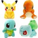 Покемон Плюшевые Игрушки Пикачу и Bulbasaur & Squirtle & Charmander 4 шт