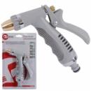 Пистолет-распылитель для полива хромированный с плавной регулировкой потока воды. ABS, PP, TPR, ZINC ALLOY, BRASS