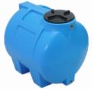 Купить горизонтальные пластиковые бочки для хранения воды на 350 литров.