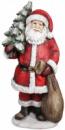 Новогодняя декоративная фигура «Санта с елкой» 80см с LED-подсветкой