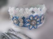 корона для снегурочки расшита камнями и бисером