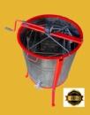Медогонка Euro4 с поворотом кассет 4-х рамочная нержавеющая с обручем и подставкой