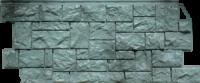 Цокольный сайдинг Fineber Дикий камень Цвет Серо-зеленый