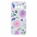 TPU чехол матовый soft touch color для Samsung G955 Galaxy S8 Plus Разноцветные Цветы