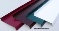 Отлив оцинкованный для окон, крыши, парапета, цоколя, фундамента забора - окрашенный (полиэстер) - 50 мм