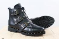 Женские демисезонные ботинки, из натуральной кожи, на байке