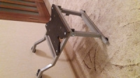 Опора для кресла в лодку ПВХ (съемная, складная) БЕЗ поворотной пластины