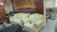 Комплект кожаной Итальянской мебели +2+1+пуф