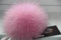 Розовый помпон / помпон брелок / брелок на сумку