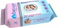 Серветки вологі Air Dream для дітей №90 пластиковий клапан