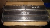 Накладки на пороги Киа Рио 2013 года ( Kia Rio new 2012 )