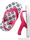 Printed Flip-Flops for Baby - Navy Flora
