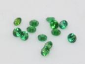 Фианит (цирконий) круг 2 мм, зеленый