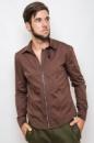 Рубашка мужская, хлопок, на молнии AG-0000095 Коричневый