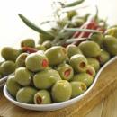 Зеленые оливки «Халкидики» фаршированные красным перцем