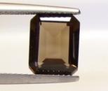Раухтопаз натуральный, октагон 8 х 6 мм