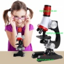 Микроскоп детский, увеличение 100х, 400х, 1200х, электронная подсветка. Самое сильное увеличение