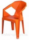 Стул из поликарбоната Muzе mandarin plastic, пластиковое кресло оранжевое